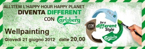 happy hour happy planet,milano,aperitivo,sostenibile,carlsberg,item gastronomic pub,body painting,murales,henné u