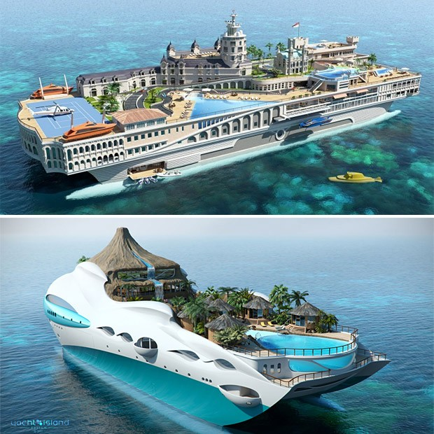 Sognare una vacanza sullo yacht island design non for Aprire concept house