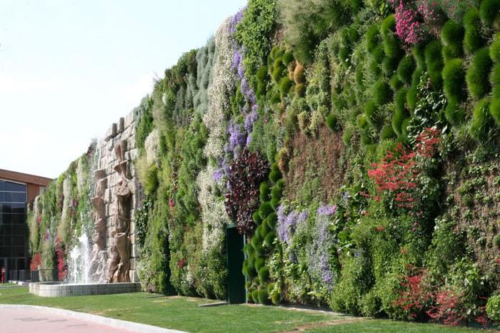Ipermercato fiordaliso a rozzano ammiriamo la parete for Giardino verticale balcone
